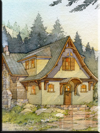 storybook cottage style home plans