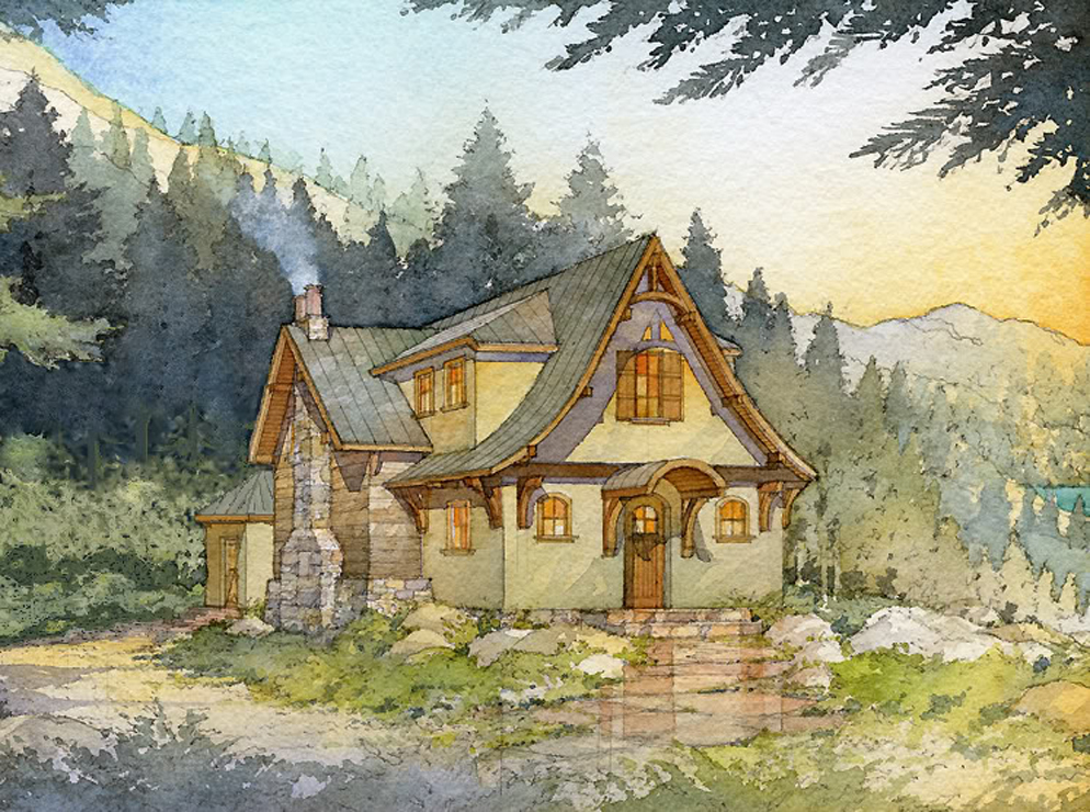Madson Design House Plans Gallery Storybook Mountain Cabin