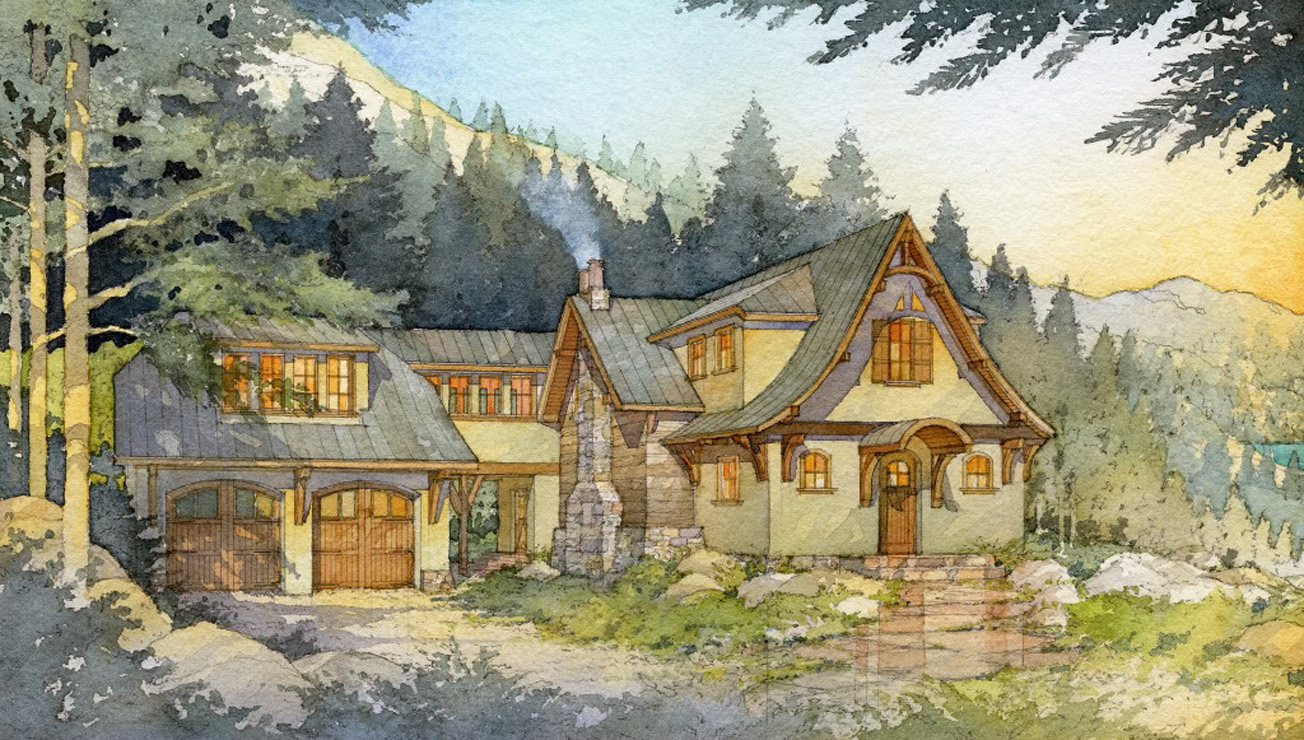 Madson Design House Plans Gallery - Storybook Mountain Cabin II