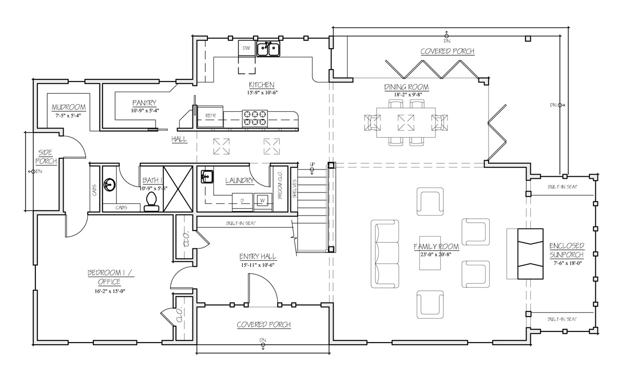 Madson design house plans gallery american homestead for American house designs and floor plans