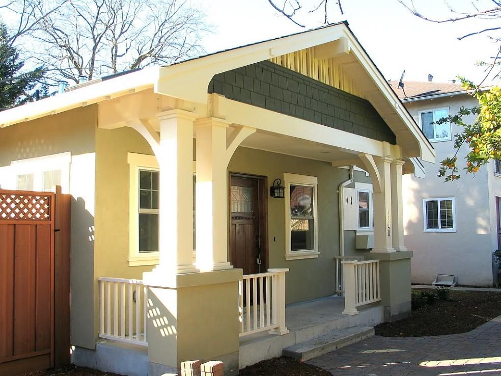 Madson design project gallery new bungalow menlo park ca for Bungalow porch columns
